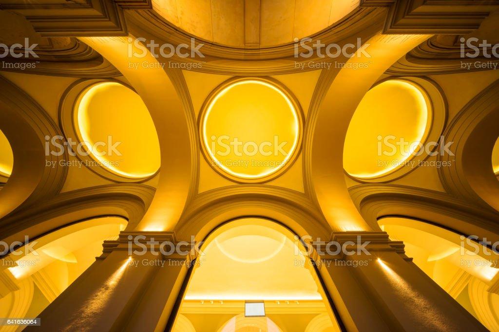 Yellow architecture detail stock photo