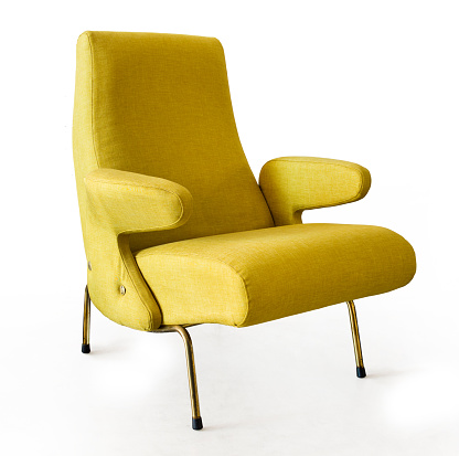 Yellow armchair Fifty style