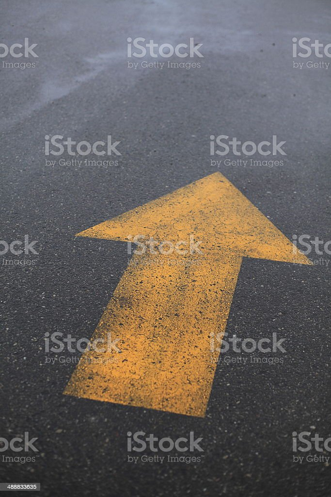 Yellow Arrow stock photo
