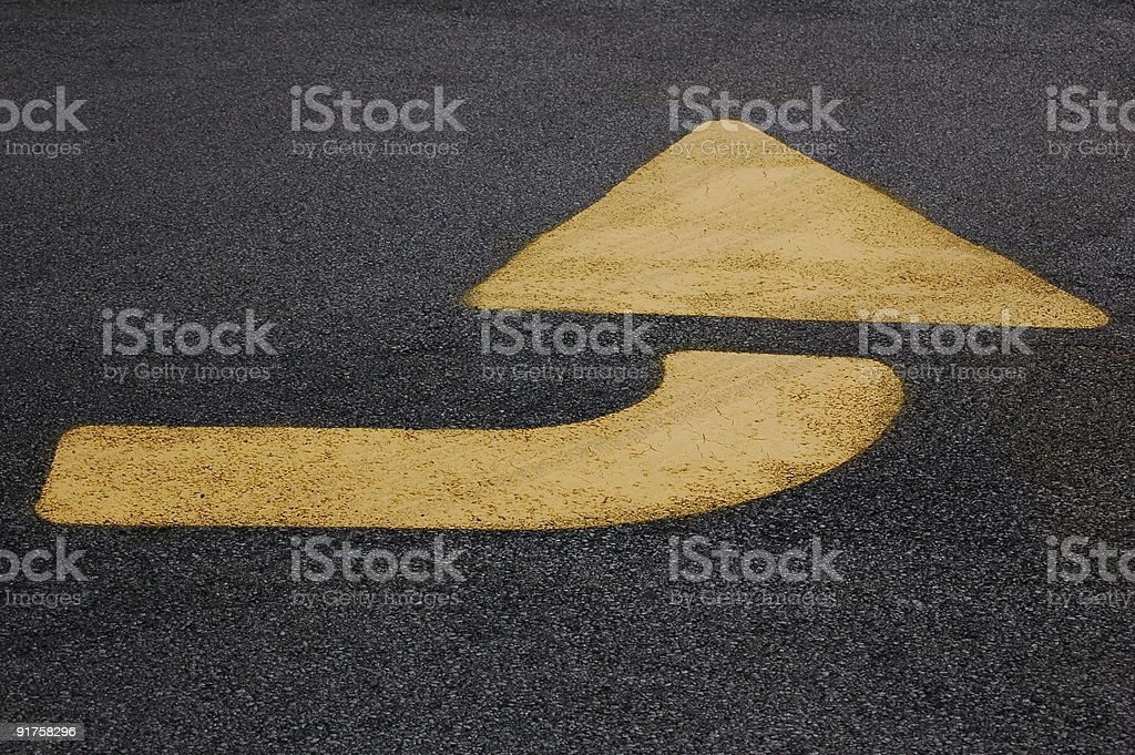 Yellow Arrow #2 stock photo