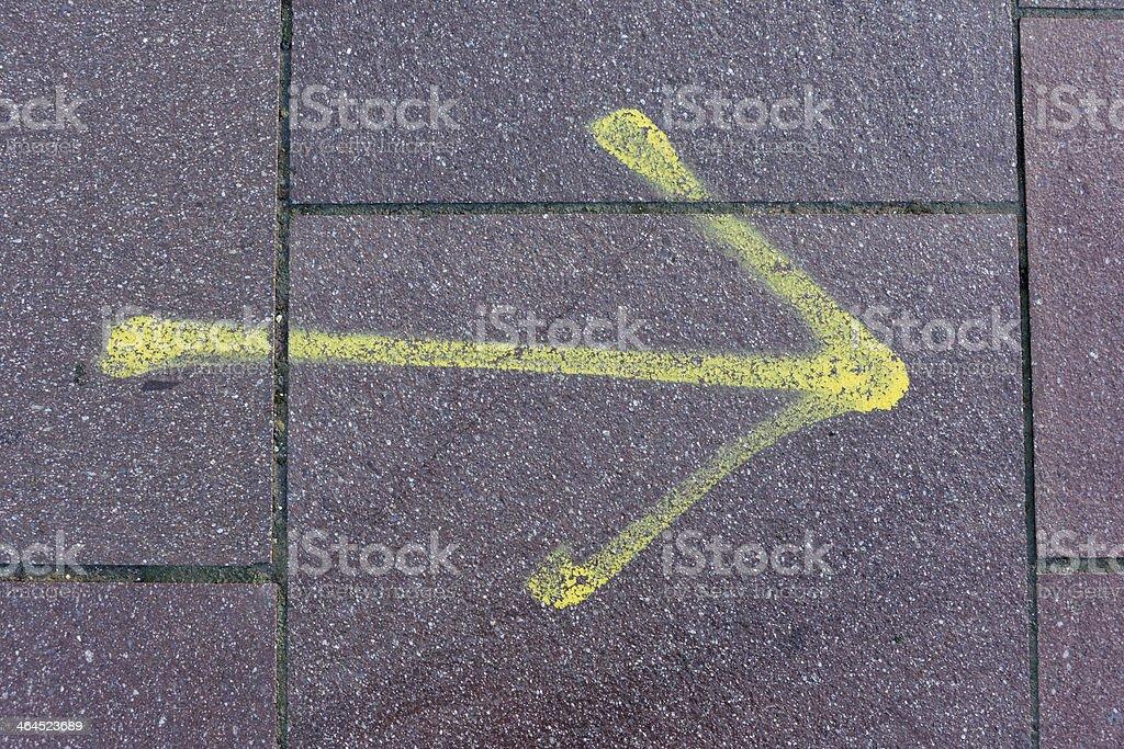Yellow Arrow Sign royalty-free stock photo