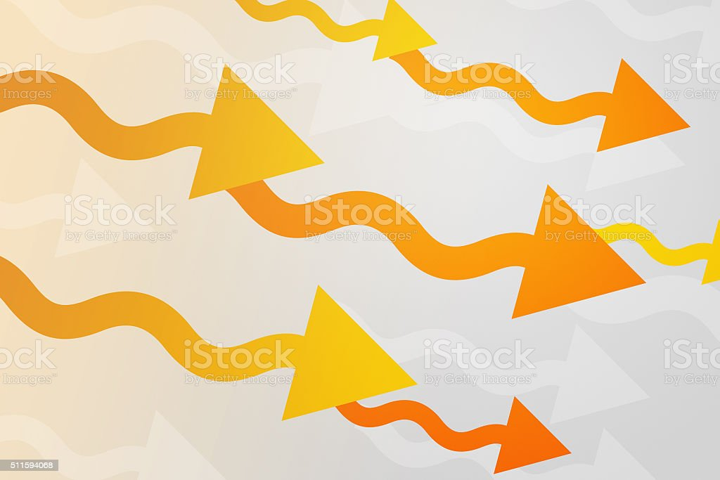 Yellow Arrows Abstract Background stock photo