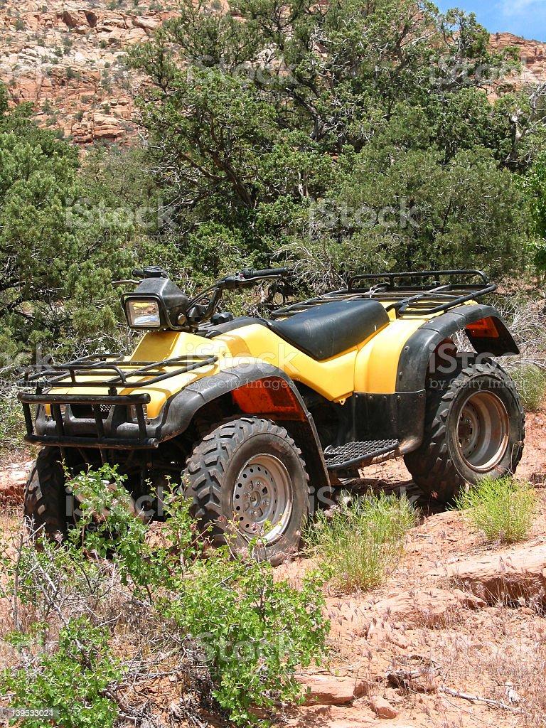 Yellow ATV royalty-free stock photo