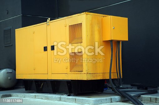 big Diesel Generator for big building