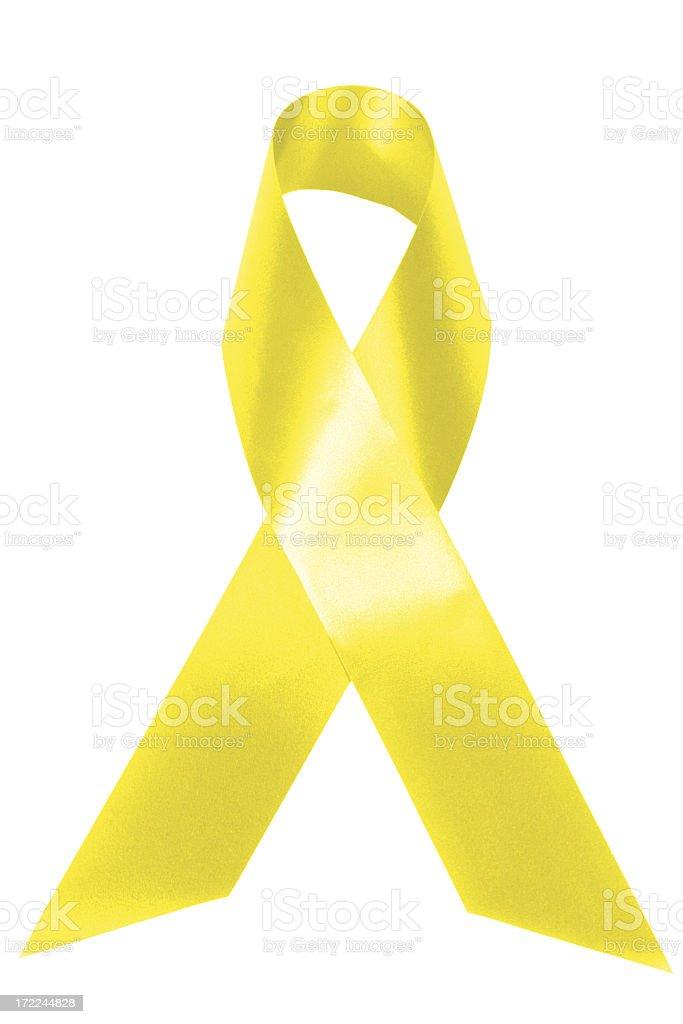 Yellow awareness stock photo