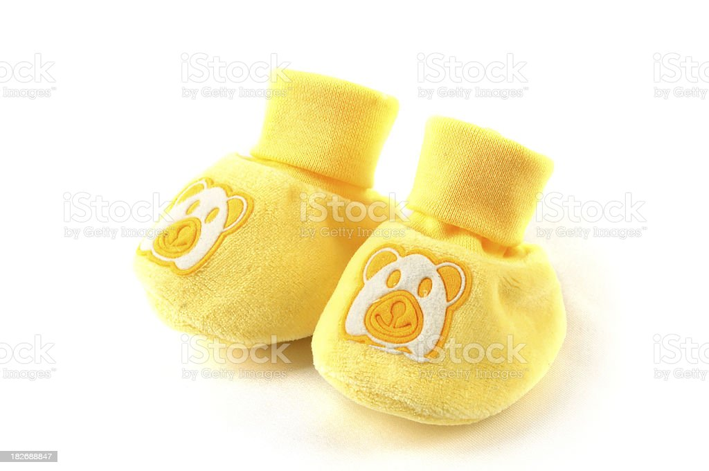 Yellow Baby Shoes stock photo