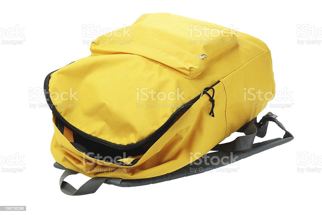 Yellow Backpack stock photo