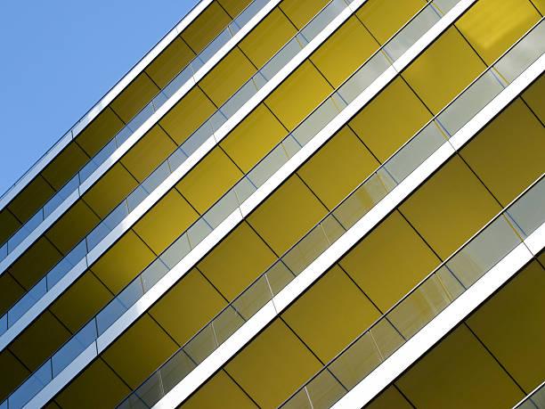 Yellow balconies stock photo