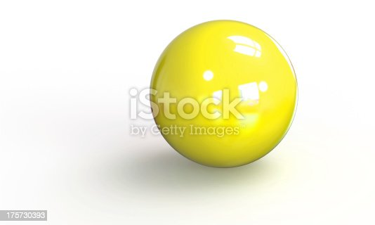 453066423 istock photo yellow ball shpere 3d model isolated on white 175730393