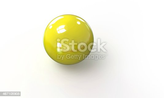 453066423 istock photo yellow ball shpere 3d model isolated on white 467105905