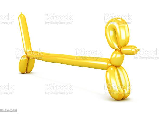Yellow balloon dog isolated on white background figurine dachsh picture id599789842?b=1&k=6&m=599789842&s=612x612&h=nzp0weawvy5yweiomnymq703cypgsgykvycwm9kx0vw=