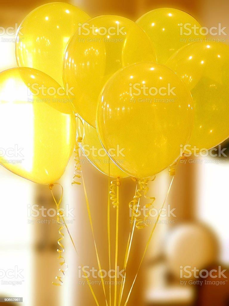 Yellow Baloons royalty-free stock photo