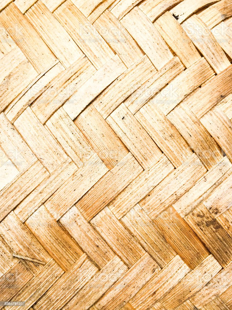 Yellow bamboo weave texture