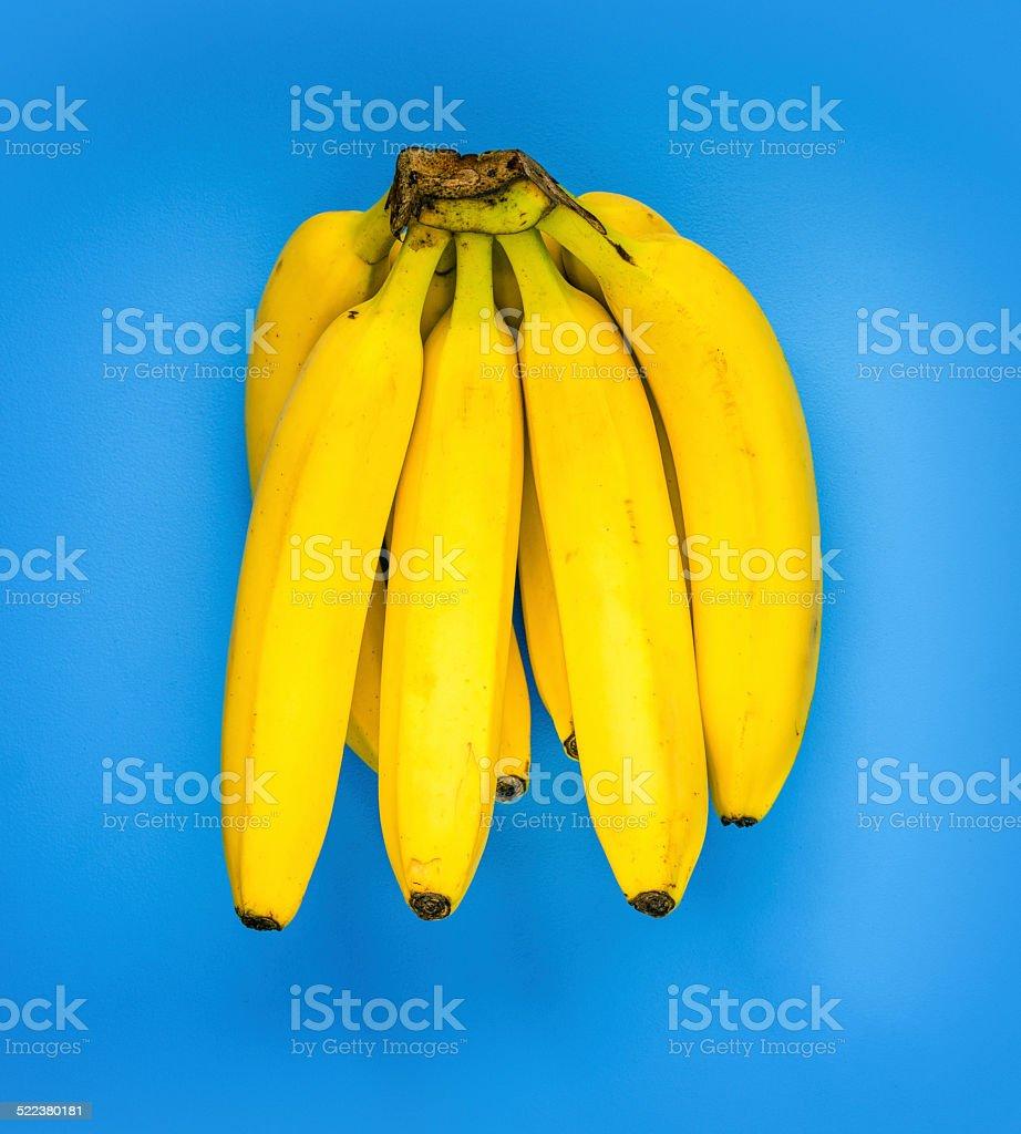 Yellow banana bunch stock photo