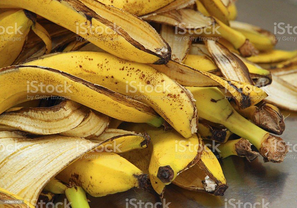 Gelben Bananen-Peelings nur Peeling store organischen Abfälle – Foto