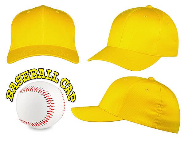 baseball-Kappe mit Gelb – Foto