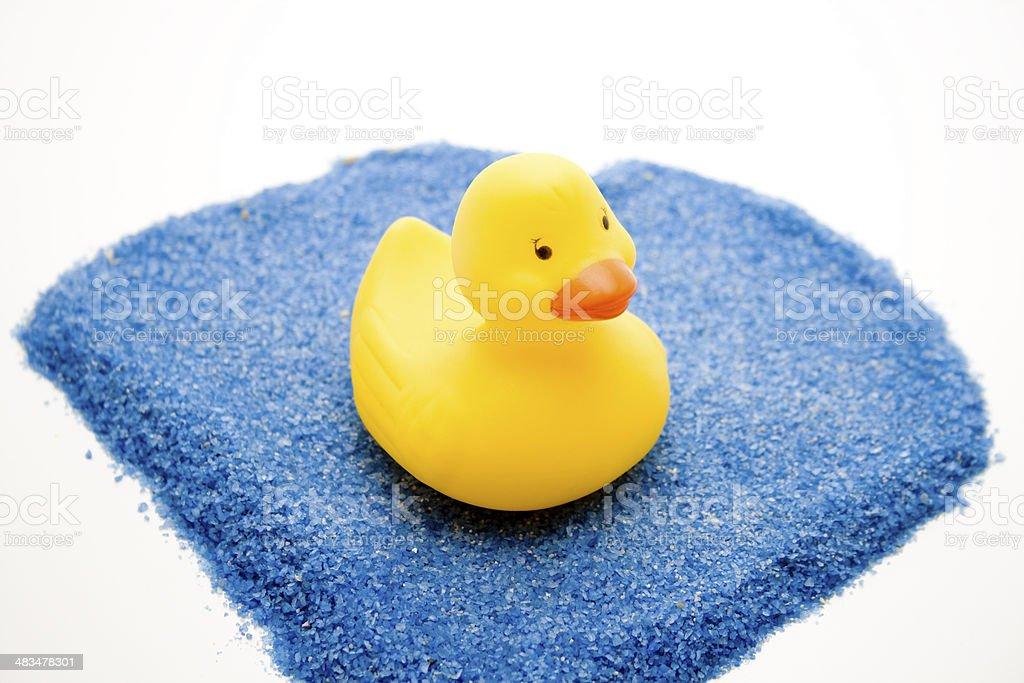 Yellow bath duck stock photo