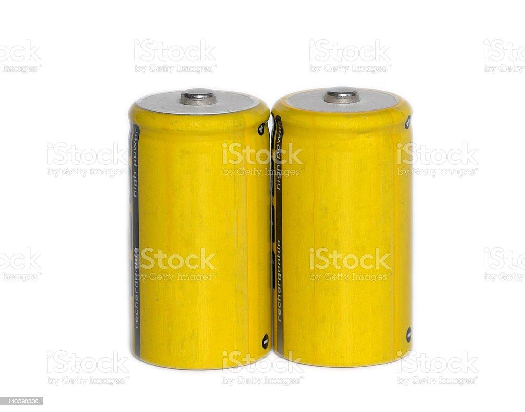 yellow battery stock photo