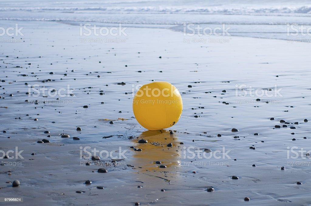 Yellow Beach Ball royalty-free stock photo