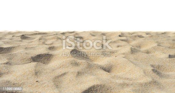 Yellow beach sand Di-Cut White background.