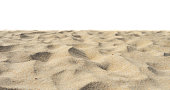 istock Yellow beach sand Di-Cut White background. 1159619563