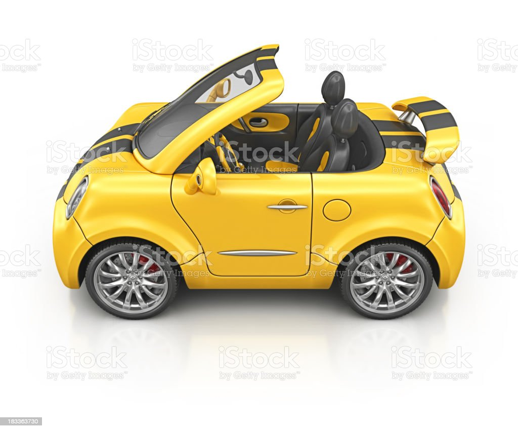 yellow bee roadster royalty-free stock photo