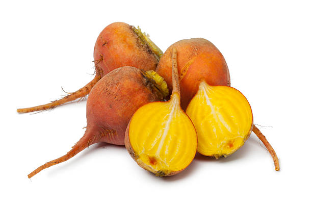 Yellow beets stock photo