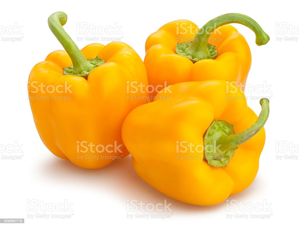 yellow bell pepper yellow bell pepper isolated Antioxidant Stock Photo