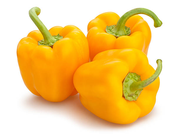 yellow bell pepper yellow bell pepper isolated yellow bell pepper stock pictures, royalty-free photos & images
