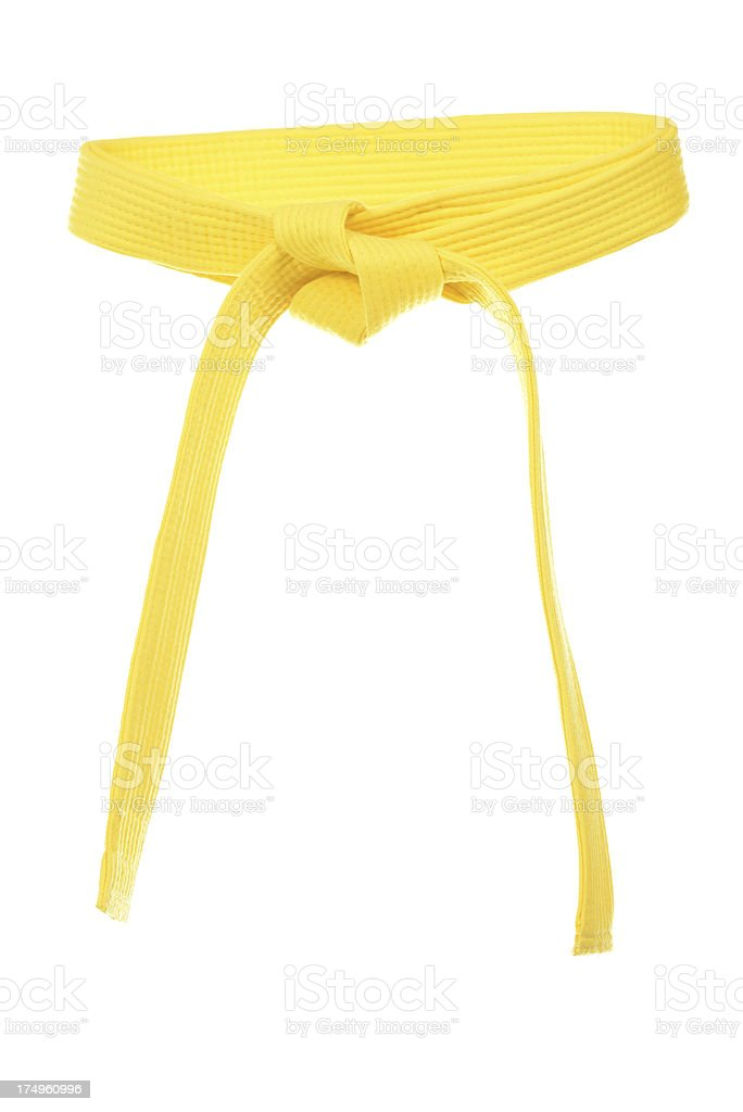 Yellow Belt stock photo