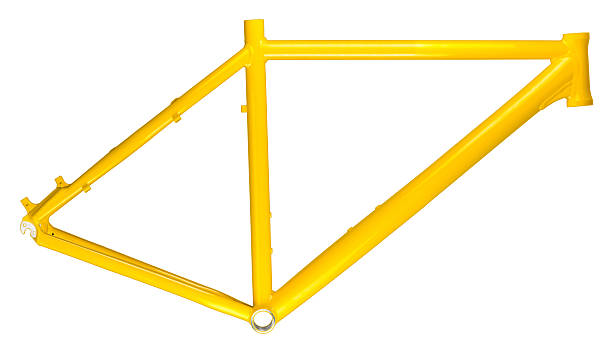 amarillo bastidor de la bicicleta - bastidor de la bicicleta fotografías e imágenes de stock