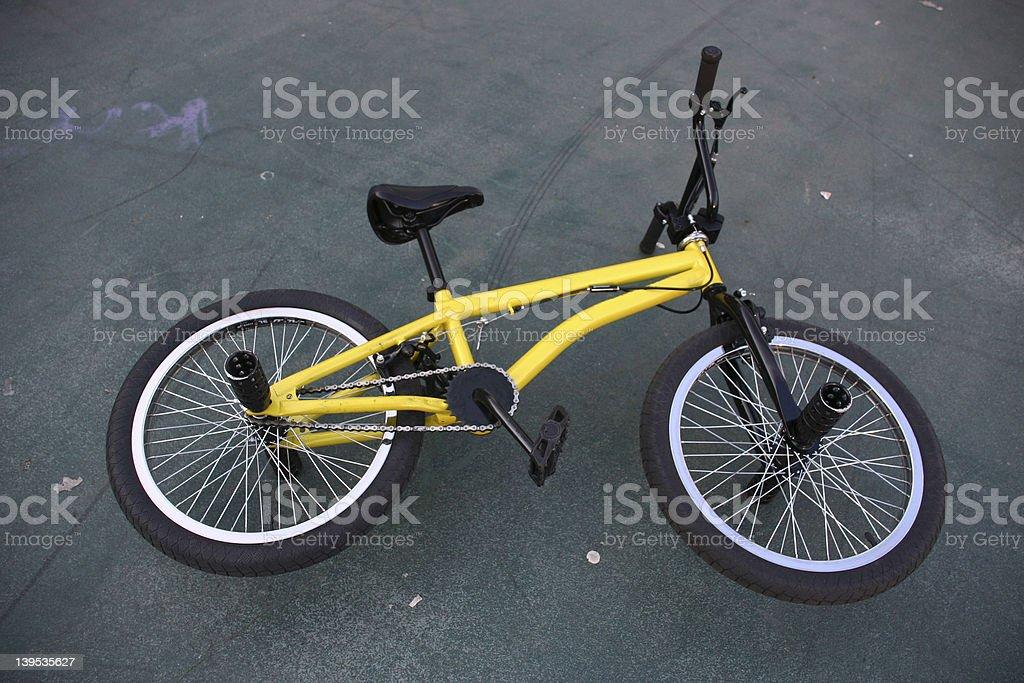 yellow bicycle stock photo