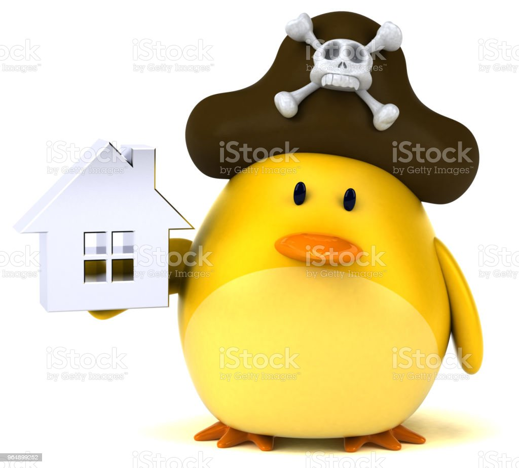 Yellow bird - 3D Illustration royalty-free stock photo
