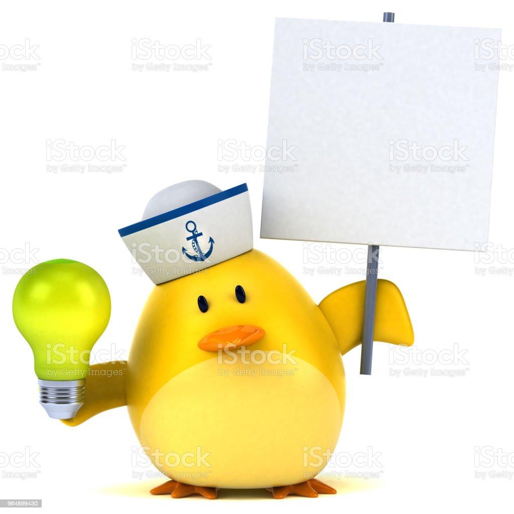 Yellow bird - 3D Illustration royalty-free stock photo