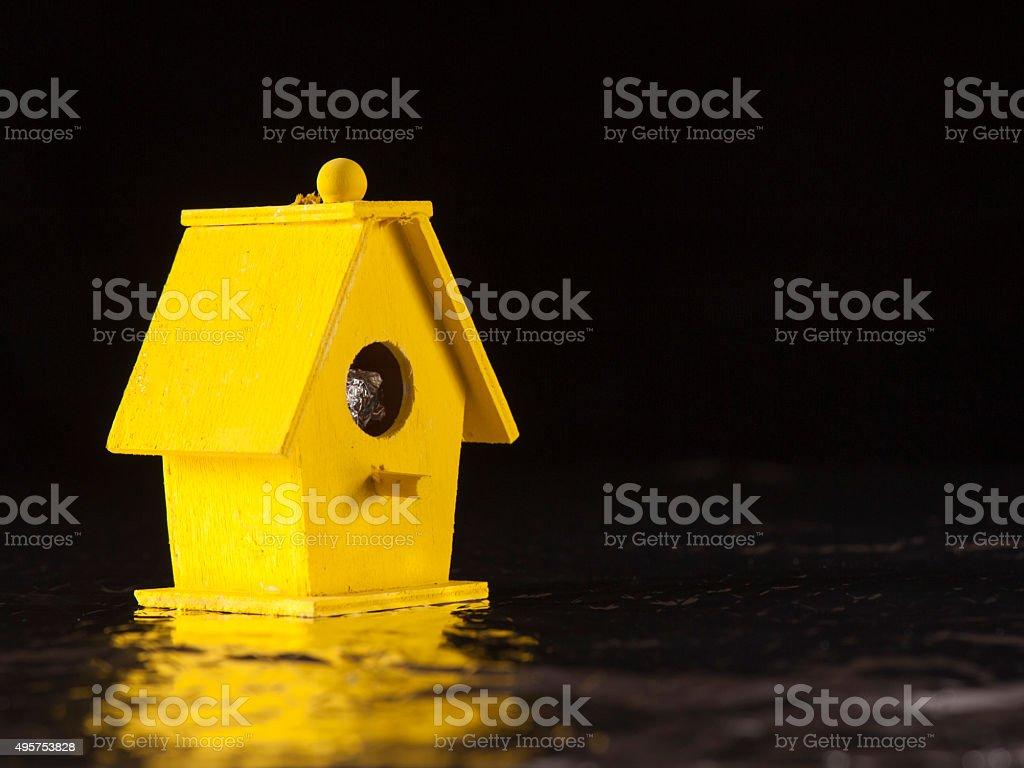 Yellow Bird Boat House stock photo