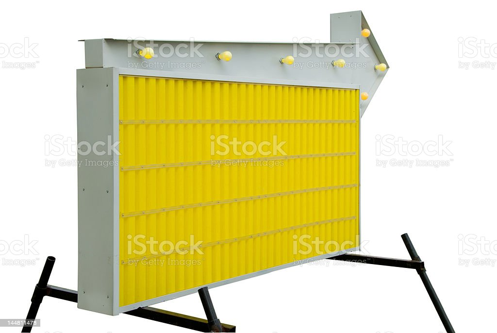 Yellow Blank Informational Road Sign royalty-free stock photo
