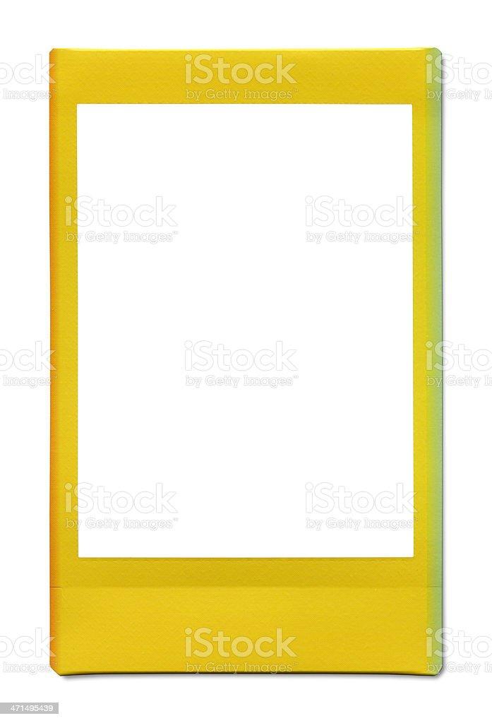 Yellow blank photo royalty-free stock photo