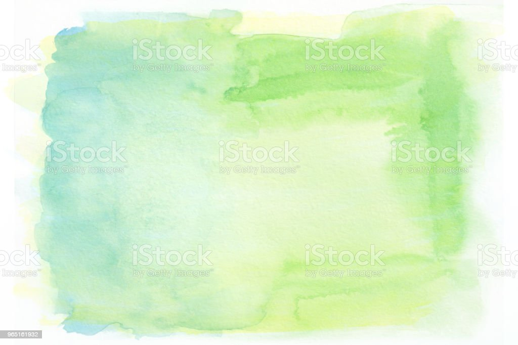 Yellow blue and green watercolor gradient background zbiór zdjęć royalty-free