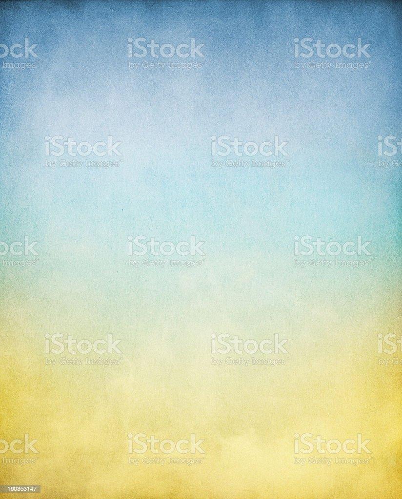 Yellow Blue Fog royalty-free stock photo