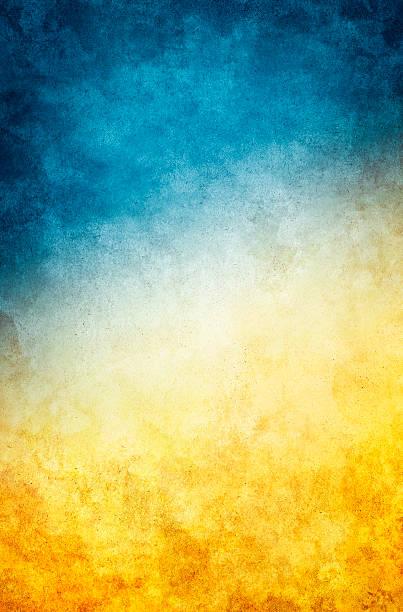 Yellow Blue Grunge stock photo