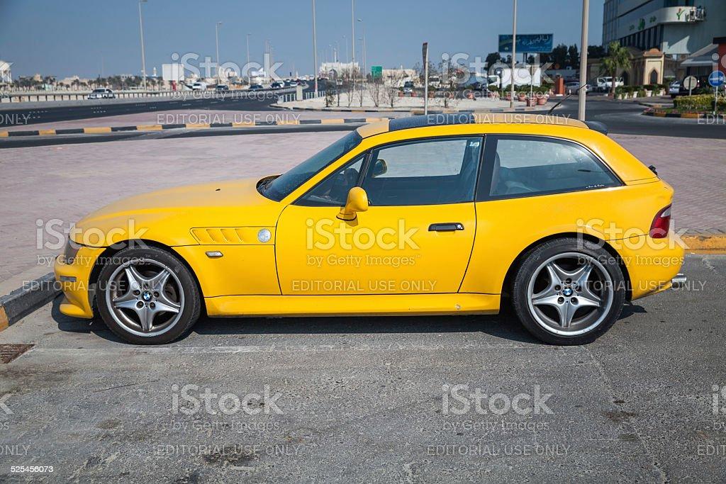 Gelbe BMW Z3 M Coupe Auto – Foto