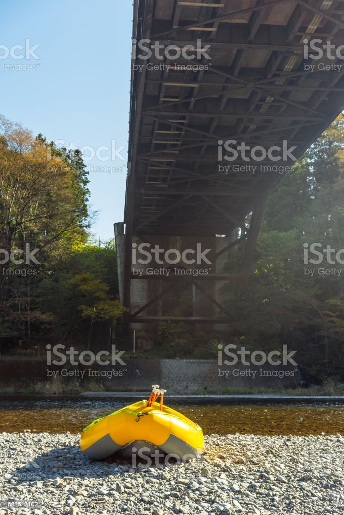 Yellow boat royalty-free stock photo