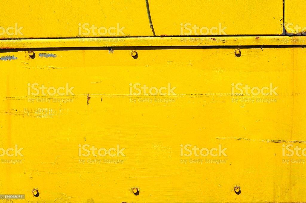Yellow body panel stock photo