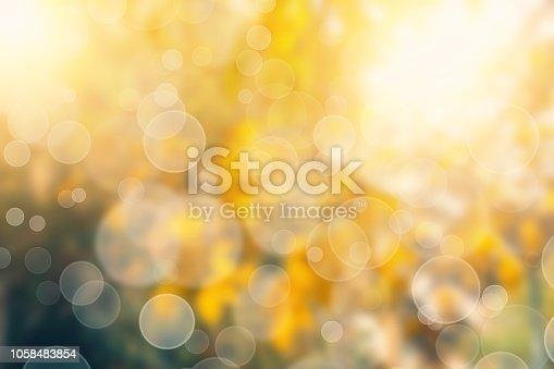 istock Yellow Bokeh Lights Abstract Background 1058483854