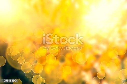 istock Yellow Bokeh Lights Abstract Background 1058483904