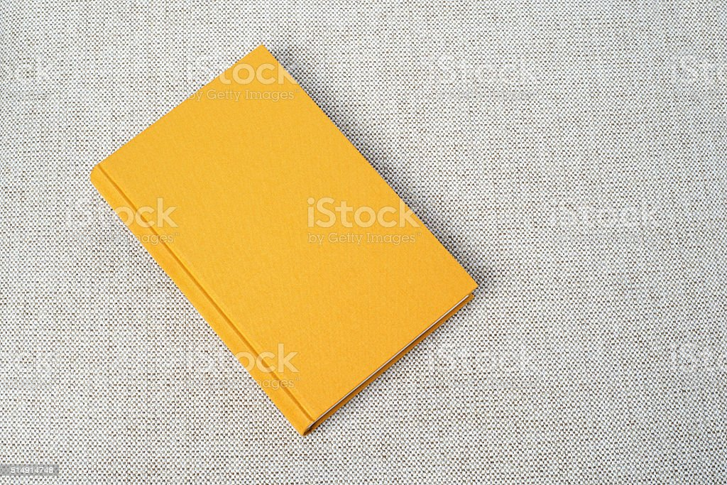 Yellow book on the table stock photo