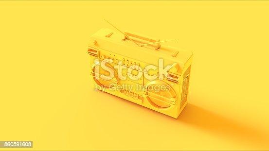 istock Yellow Boombox 860591608