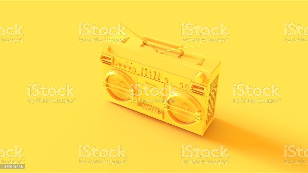 Yellow Boombox stock photo