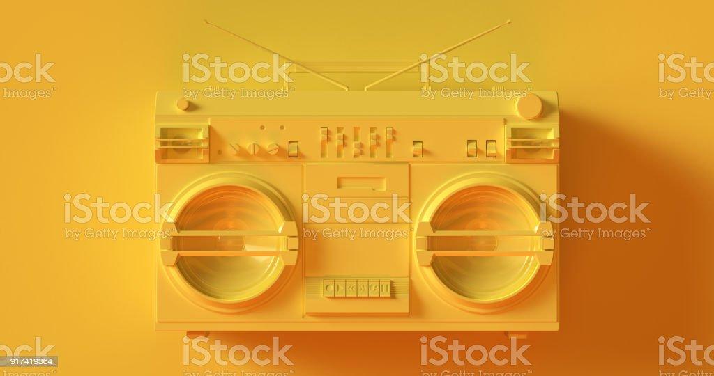 Boombox jaune - Photo