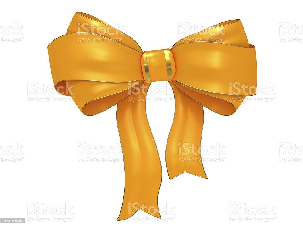 Yellow bow royalty-free stock photo